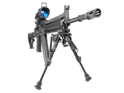 Front View of AKG-KCR KWA Gas Airsoft Rifle on Stand
