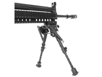 Profile of AKG-KCR KWA Gas Airsoft Rifle on Stand