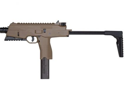 KMP9R KWA Gas Airsoft Rifle in Dark Earth with Orange Tip Left Side