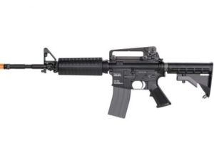 LM4 PTR KWA Gas Airsoft Rifle Left Side with Orange Tip