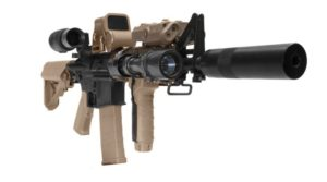 SR7 FDE 2GX FDE Two Tone KWA Electric Airsoft Rifle Angled Right Side View
