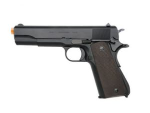 M1911A1 KWA Gas Airsoft Pistol Left Side with Orange Tip