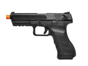 Left Side of ATP-SE KWA Gas Airsoft Pistol with Orange Tip