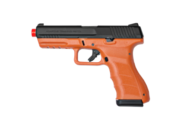 Blaze Orange ATP-LE2 KWA Gas Airsoft Pistol Full View of Left Side