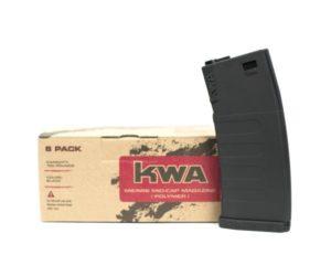 KM4 K120 Mid Cap KWA Airsoft Electric Magazine 6 Pack Black