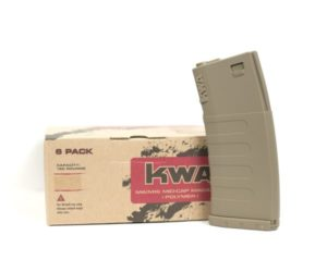 KM4 K120 Mid Cap KWA Airsoft Electric Magazine 6 Pack Flat Dark Earth