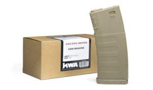 K400 High Cap AEG Tan 3 Pack of KWA Airsoft Electric Magazines