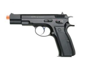 kz75 KWA Gas Airsoft Pistol Left Side with Orange Tip