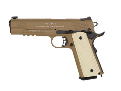 1911 MKII PTP Dark Earth KWA Gas Airsoft Pistol Close Up